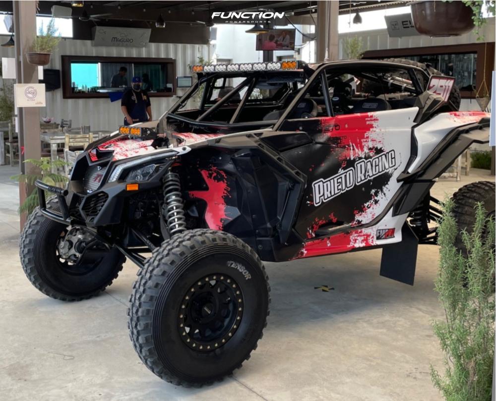 2 2021 Maverick X3 Max X Rs Turbo Rr Smart Shox Can Am Fox Racing 14 Method Mr405 Machined Black
