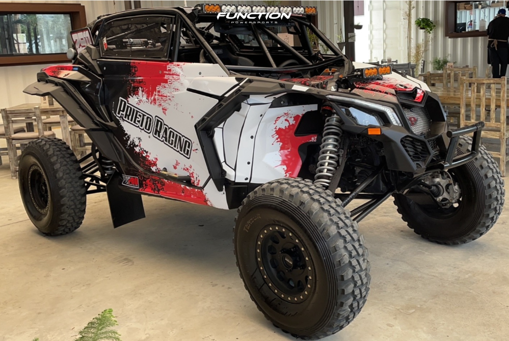 5 2021 Maverick X3 Max X Rs Turbo Rr Smart Shox Can Am Fox Racing 14 Method Mr405 Machined Black